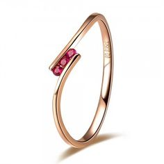 Affordable Ruby Wedding Band on Rose Gold on Sale Ruby Ring Simple, Simple Jewelry, Fine Jewelry, Ruby Ring Designs, Engagement Rings Under 500, Rings For Girls, Wedding Ring Bands, Ruby Wedding, Gemstone Jewelry