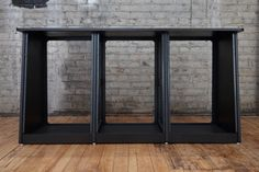 Studio Equipment Rack | Triple Bay 16U Black
