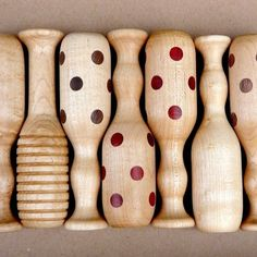 organic baby rattle - traditional wooden polka dot baby toy. $38.00, via Etsy.