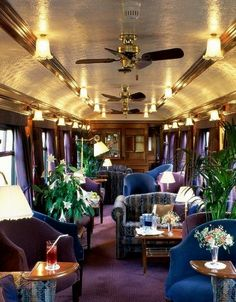 The Royal Scotsman Luxury Train. Observation Car on The Royal Scotsman - Great Scottish And Western Railway Company