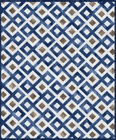 custom cool rugs--blue