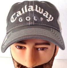 Baseball Cap Hat Callaway Golf Gray Corduroy White New Era Adjustable  #NewEra #BaseballCap