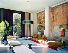 "madabout-interior-design: "" Tuscan home by Vincenzo De Cotiis Architect Vincenzo De Cotiis has renovated a former boathouse in Tuscany. The refurbishment, according to his sophisticated aesthetics, consists of a mix of unexpectedly juxtaposed. Contemporary Interior Design, Contemporary Bedroom, Contemporary House, Contemporary Interior, Interior, Home Decor, House Interior, Interior Architecture, Tuscan House"