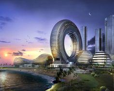 future building designs circular | Future Futuristic City