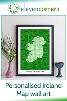 Custom Ireland map print - map art with personalised message and location markers. Unique personalised map art gift idea for her. #elevencorners #ireland #mapart #personalisedprint #giftforher Personalized Anniversary Gifts, Personalised Gifts For Him, Personalised Prints, Personalized Wall Art, Personalized Wedding, New Home Presents, Presents For Him, New Home Gifts, Map Wall Art