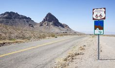 Road trip ideas (Picture: Route 66 at Oatman, Arizona during the Grapes of Wrath road trip)