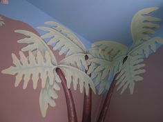 Palm Leaves in Jungle Theme Nursery