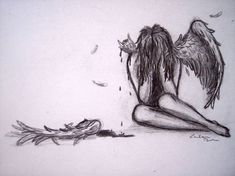 Image result for angel with broken wing tattoo