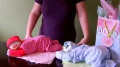 How to make a diaper baby - Sleeping Baby Girl (Diaper Cake), via YouTube.