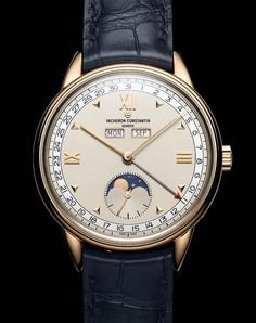 The 7 exclusive journal Vacheron Constantin Historiques Triple calendrier. Trendy Watches, Luxury Watches For Men, Unique Watches, Black And Silver Wallpaper, Army Watches, Man Watches, Wrist Watches, Moonphase Watch, Vacheron Constantin