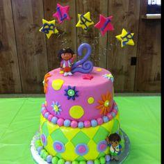 Blair's Dora birthday cake by MerryBerry Cupcakes