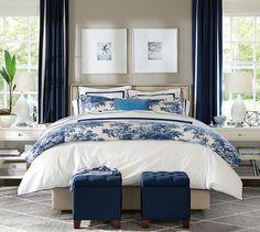[CasaGiardino] ♛ Matine Toile Duvet Cover, Full/Queen, Flagstone