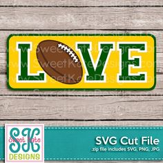 Love with Football SVG