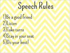 Free! Speech Rules printable from letstalkspeechtherapy!