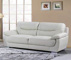 Bryce Genuine Leather Sofa only $1199 no tax & free local delivery! #sofa #palluccifurniture http://www.palluccifurniture.ca/bryce-genuine-leather-sofa-grey/