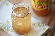 Sweetened Raw Apple Cider Vinegar Elixir ~ It is a natural remedy for heartburn. ~Can help clear up skin conditions and acne ~Promotes digestion ~Helps control weight ~Can help regulate blood sugar & Health And Beauty Tips, Health And Wellness, Gut Health, Health Remedies, Home Remedies, Cramp Remedies, Cough Remedies, Herbal Remedies, Raw Apple Cider Vinegar