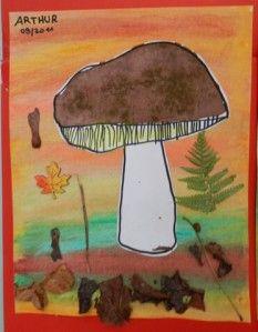 Suite et fin de mes petits champignons... Je me suis inspirée de ceci ART SONIA . mais j'ai choisi d'y mettre ma touche personnelle, car je ne voulais pas faire une amanite mais un champignon plus sympa ( type bolet ou cèpe) mes élèves ont donc fait un...
