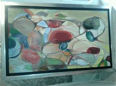 Abstracto acrílico sobre madera, petición especial de Vero, .90 x 1.20 vendido $3,000.00