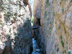 Vouraikos Canyon in northern Peloponnese