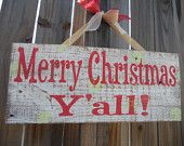 Christmas Sign, Rustic sign, Merry Christmas y'all, Country Christmas sign, Holiday sign