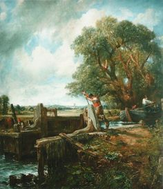 The Lock, 1824, John Constable Size: 120x142.2 cm Medium: oil, canvas