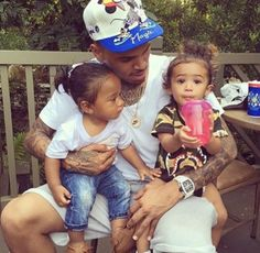 Chris And The Babies, Royalty And Megaa (Omarion's Son).