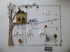 Creative Crafts 309341068148010095 - Drahtgeschichten, wire fabric collage Source by jhamid Wire Crafts, Diy And Crafts, Crafts For Kids, Arts And Crafts, Creative Crafts, Sculptures Sur Fil, Wire Sculptures, Art Projects, Projects To Try