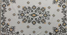 Hand Embroidered Linen Tablecloth Cross Stitch, Rectangle, 118x150cm/46.5x59in Lace Table Runners, Crochet Table Runner, Linen Tablecloth, Tablecloths, Vintage Table Linens, Handmade Table, Blanket Stitch, Hand Crochet, Handmade Christmas