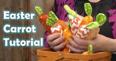 How To Make a  Cute Easter Carrot with Fabric Scraps!