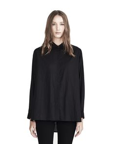 COMMONERS W VOILE SHIRT BLACK - WOMENS-VIEW ALL : AREA 51 - COMMONERS W15