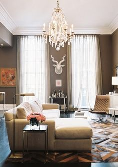 i dream of tall rectangular ceilings for the molding and curtain possibilities