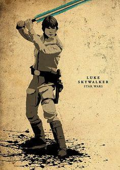 Star Wars film minimaliste affiche la valeur / Luke par moonposter