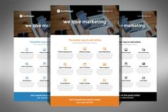 Corporate Flyer Template by Creativenauts on Creative Market
