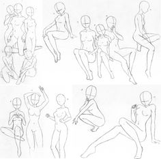How to draw manga   Body   poses   Drawing anime bodies ...