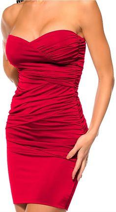 Vestido corto ceñido