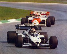 Nelson Piquet and Niki Lauda, 1984 Austrian Grand Prix