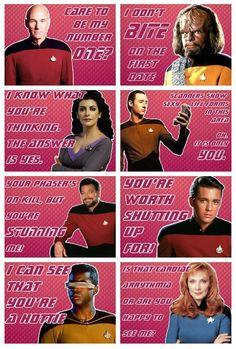 Star Trek: TNG Valentines.