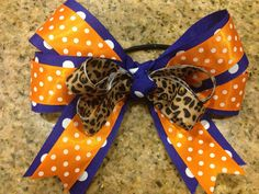 Boutique Hair Bow MTM School or Sports Team Colors Softball on Etsy, $6.00