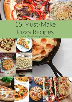 15 Must-Make Homemade Pizza Recipes because pizza! Are you making homemade pizza yet? I know that having $5 pizza on every street corner sure takes the appeal out of making homemade pizza, but it just isn't the same. Fancy wood-fired pizza places are delicious but spendy, and everyone knows that frozen pizzas just aren't all …