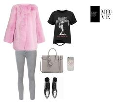 """""""Fur jacket"""" by skdesign9 ❤ liked on Polyvore featuring Yves Saint Laurent, Mother and Gucci"""