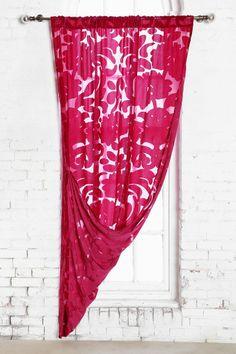 Magical Thinking Ribbon Damask Curtain