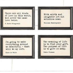 Framed Inspirational Wall Decor | Framed Quotes | Inspirational Wall Art Antique Farmhouse