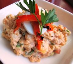 Creole seasoned smashed potato salad with egg, scallions and roasted red peppers. Potato Salad With Egg, Raw Bars, Wine List, Seafood Restaurant, Roasted Red Peppers, Risotto, Potatoes, Ethnic Recipes, Wine Chart