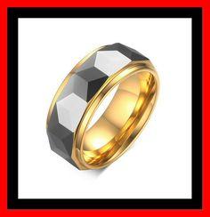 Tungsten ring Rhombus