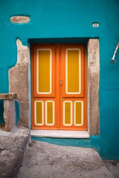 Colourful Italian Door | Bosa, Sardinia, Italy