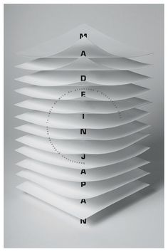 made in japan - paper architecture, by quintal - typo/graphic posters Layout Design, Graphic Design Layouts, Graphic Design Typography, Graphic Design Inspiration, Flyer Design, Japan Graphic Design, Graphic Posters, Booklet Design, Creative Inspiration