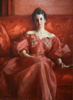Портрет миссис Хоу (урожденная Диринг) (1900). Альфред Эмиль Леопольд Стевенс (Бельгия, 1823-1906). Холст, масло.Стивенс был оценен в его день его элегантный пробуждение процветающем сред, модные платья, и изысканные манеры, часто представлены одной фигурой, как здесь, собирается о ритуалах благовоспитанное повседневной жизни. Вот дама-видимому, положил письмо, которое она читала.