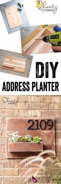 Diy Simple, Easy Diy, Home Projects, Projects To Try, Simple Projects, Address Numbers, Address Signs, Door Numbers, Diy House Numbers