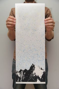 Consider working onto different surfaces such as thus mixed media piece. Mountains Screen Print - Kris Johnsen