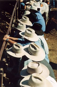 Akubra Hats - Cloncurry, Queensland, Australia. This is standard headgear for a true blue Aussie. Don't see them much in the cities but out in the country these are pretty much the norm!